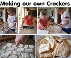 How to make crackers project for kids - homeschool history westward expansion unit