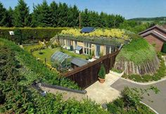 green roofs, houses, earth homes, dreams, dream homes, buildings, sustainable living, rain, extreme weather