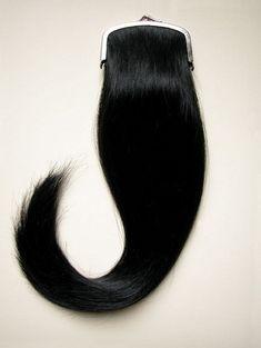 Tabitha Kyoko Moses Hairpurse, 2004 Metal clasp, human hair (approx 9 x 35cm)