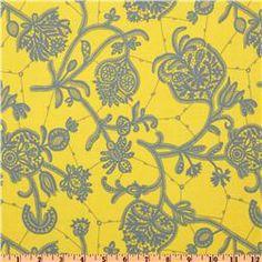Amy Butler Lark Glamour Souvenir Lemon Yellow - $8.98 per yard
