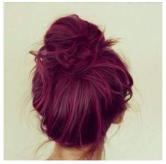 Plum Hair #plum #purple #bun #hair