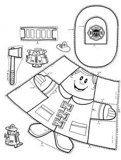 Paper cup fireman puppet