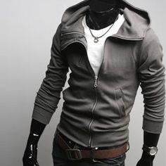Mens guys zip up Hoodie jacket