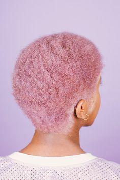 Purple-pink afro