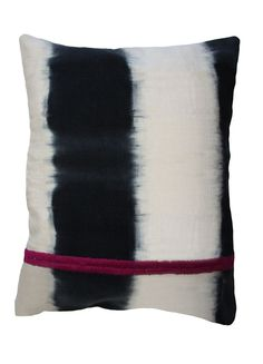 'Dip Dye' black and white pillow, available in the Lonny store on Homemint.