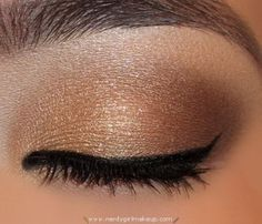 """-Urban Decay Naked Palette E/S in """"Virgin"""" (highlight)   - Urban Decay Naked Palette E/S in """"Half Baked"""" (center lid to inner corner)   - Urban Decay Naked Palette E/S in """"Toasted"""" (center to outer lid; blend where it meets Half Baked)   - Urban Decay Naked Palette E/S in """"Hustle"""" (outer V; blend along outer half of crease)"""