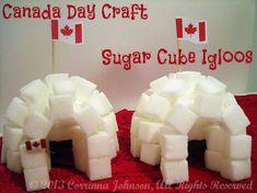 Canada Craft: Sugar Cube Igloos