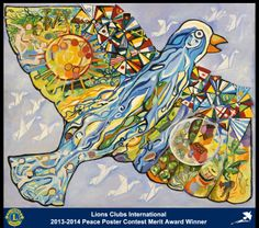 Merit Award Winner, Alison D. Jaimes R., from Colombia (Ibague Monarcha Lions Club) - 2013-2014 Lions Clubs International Peace Poster Contest