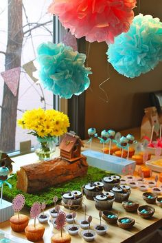 @katie jones gant, i though you would love this owl gender reveal party idea.