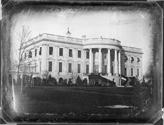 "Earliest known photograph of the White House is a daguerreotype taken by John Plumbe, Jr. in 1846. The President of the United States was James K. Polk and, of course, the building was simply the ""Executive Mansion"" and there is no balcony within the portico."