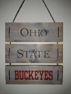 Ohio State Buckeyes Wooden Sign by ValaCreations