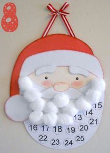 This would be a great christmas countdown - add a cotton ball to Santa's beard!