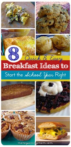Looking for some quick  easy (and healthy!) breakfast ideas? This post has some great ideas  recipe links!