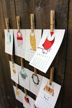 Gingiber: Illustrated Owl Calendar