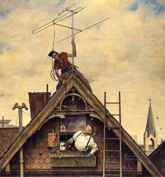 Norman Rockwell New Television Antenna