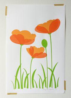 Beautiful poppies print