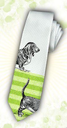 Basset hound tie!