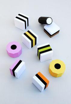 Paper Liquorice Allsorts // MiniEco {free templates}