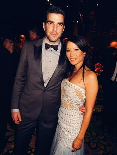 Zachary Quinto and Lucy Liu