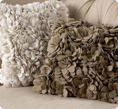 DIY Felt Flower pillows
