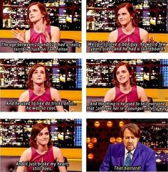 Emma Watson had a crush on Tom Felton (Draco Malfoy) I feel ya girl