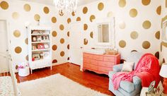 Coral and Gold Nursery Design
