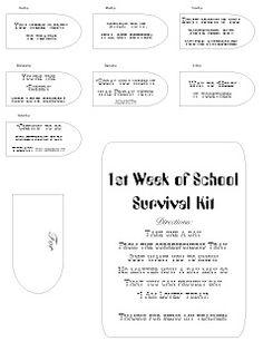 Teacher survival kit printable on the job pinterest
