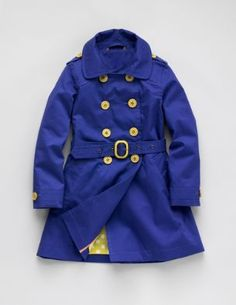 blue/yellow trench coat from Mini Boden