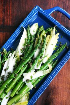 Asparagus and endive salad