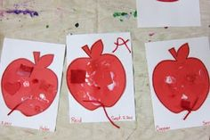 Red Apple Collage preschool board, karen preschool, preschool appl, color collagewebsit, red appl, appl idea, preschool idea, appl preschool, appl collag