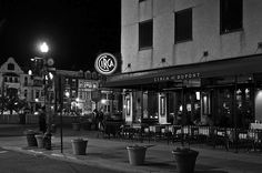 Washington, DC--North of Dupont Circle on the corner of Q Street and Connecticut Ave. NW. Circa, 10:45 PM. Closing time.