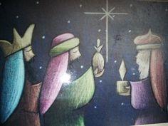 imagen religiosa, king art, nativ art, pastel pencil, wise men, nativ scene, three king, pencil art, three wise