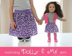"""Matching """"Dolly & Me"""" Skirts. www.makeit-loveit.com #clothing #diy"""