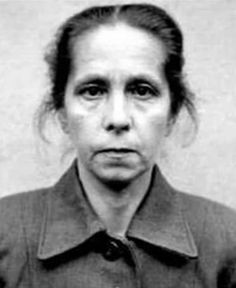 """Juana Bormann (or Johana Borman)  was a prison guard at several Nazi concentration camps, including Auschwitz and Bergen-Belsen, and was executed as a war criminal at Hamelin, Germany after a trial in 1945. One of her favorite """"games"""" was unleashing her starving shepherd dog on helpless prisoners -- hence her nickname """"The woman with the dogs."""""""