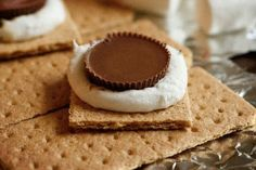 S'mores - Reese's Peanut Butter Cup style :)   can't wait for a campfire!  one of my favorites.