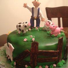 Farm animal cake cake idea, animal cakes, fanci cake, barnyard birthday, children cake, birthday cake, farm cake, farm anim, anim cake