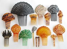 Antique Hair Combs and Ornaments  1890 - 1925