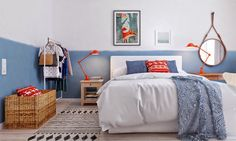 chambre bleu et oran