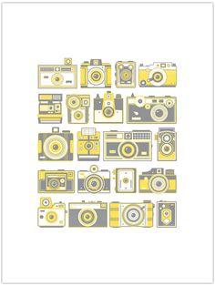 Retro Cameras Poster www.55his.com/shop/retro-cameras
