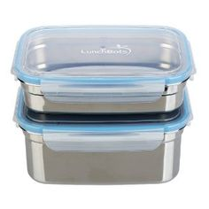 These LunchBots Clicks Medium Leak Proof Stainless Steel Food Containers are the perfect size to pack your lunches!