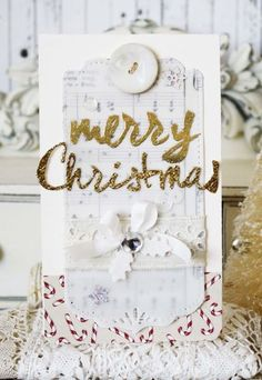 Merry Christmas Card by Melissa Phillips for Papertrey Ink (September 2014)