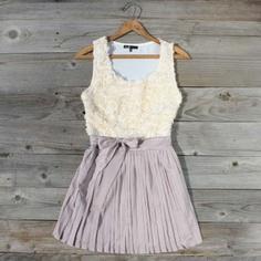 lilac rosette dress.. so pretty!