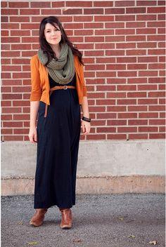 Autumn style - I should make myself an orange jacket :)
