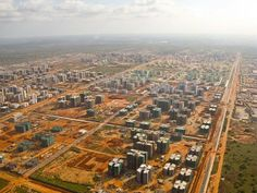 """""""ghost city"""" nova cidade de kilamba, conceived and constructed by state-owned china international trust and investment corporation, angola"""