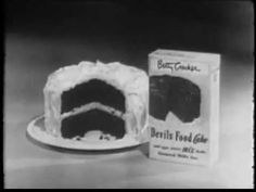 VINTAGE 1950 BETTY CROCKER CAKE MIX COMMERCIAL