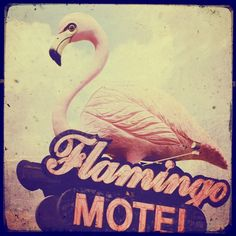 Flamingo motel sign 8x8 american motel sign retro by elgarboart - via http://bit.ly/epinner