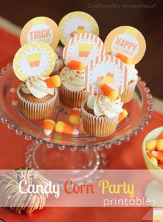Free Candy Corn Party Printables #halloween #printable http://www.craftaholicsanonymous.net/candy-corn-party-printables