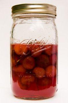 Homemade Maraschino Cherries with cherry liquor