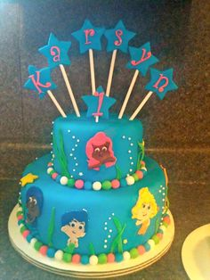 bubble guppies, cakes, names, bananas, french toast