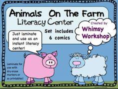 Farm Animal Comics Instant Literacy Center (6 comics)